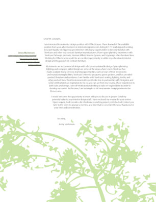 graphic design resume cover letter template